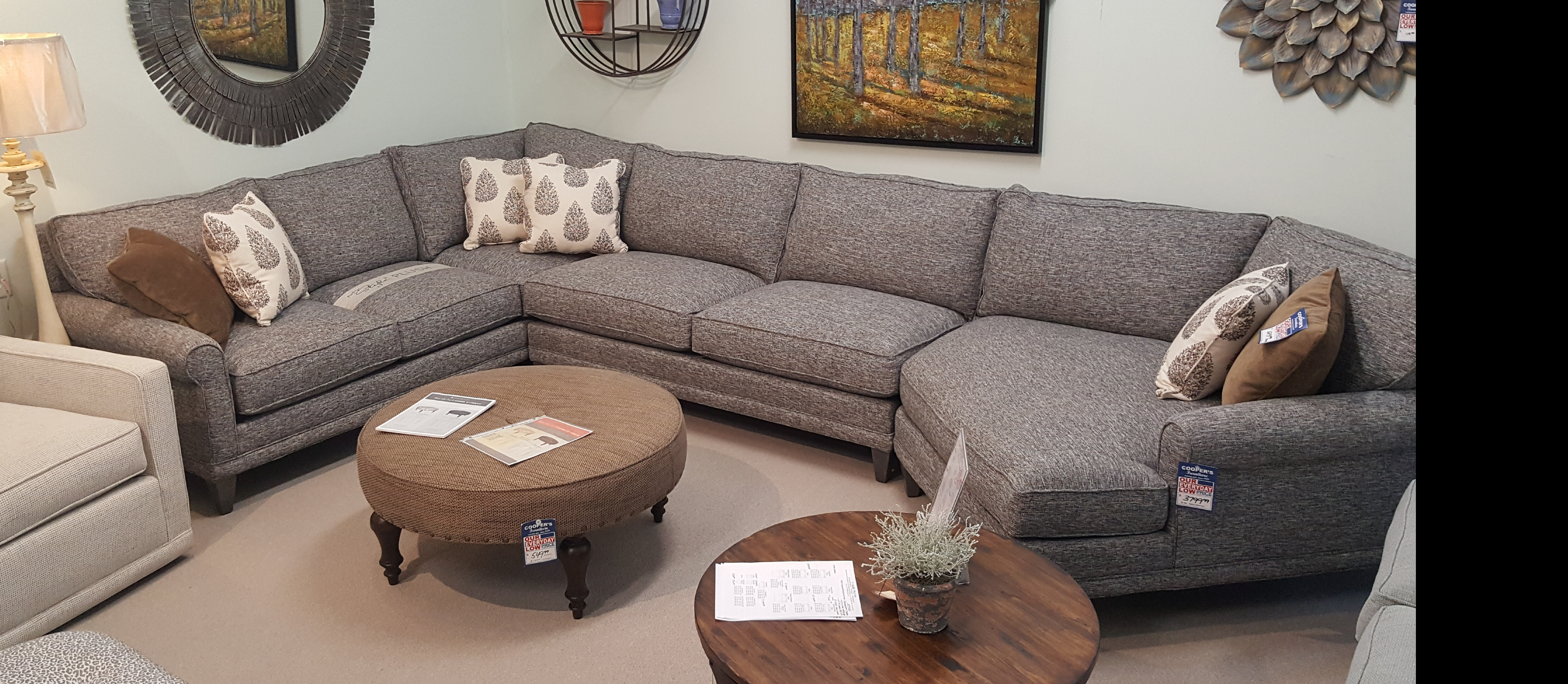 Sofas And SectionalsRowe Andee Sectional Brown Leather